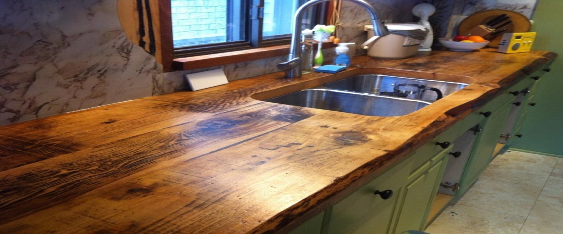 מטבח כמעט חינם משטח עבודה מעץ